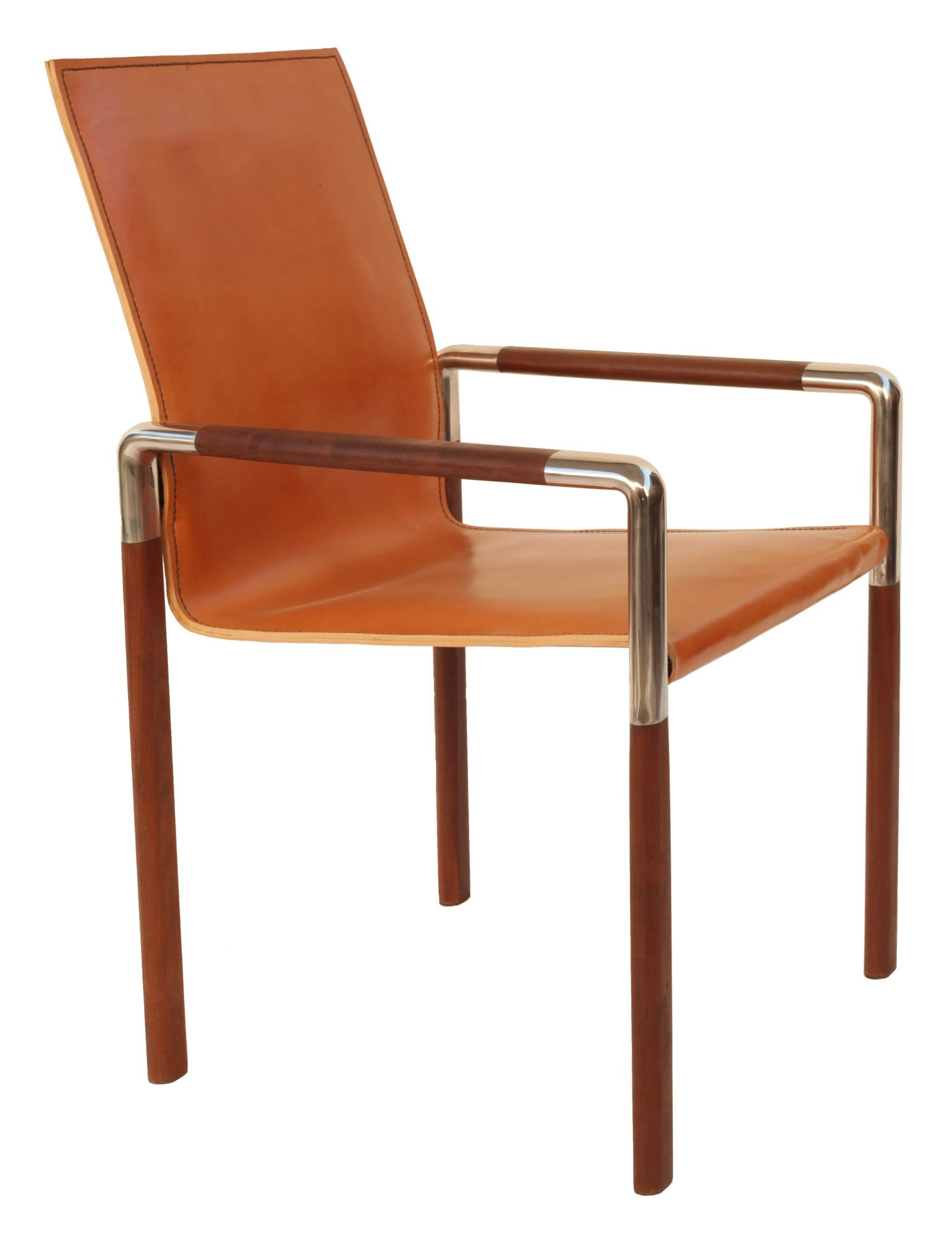 Zele Riva Leather Dining Chair Contemporary Midcentury Modern
