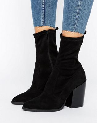 Women Public Desire Gabriella Sock Ankle Boots Black Online Store