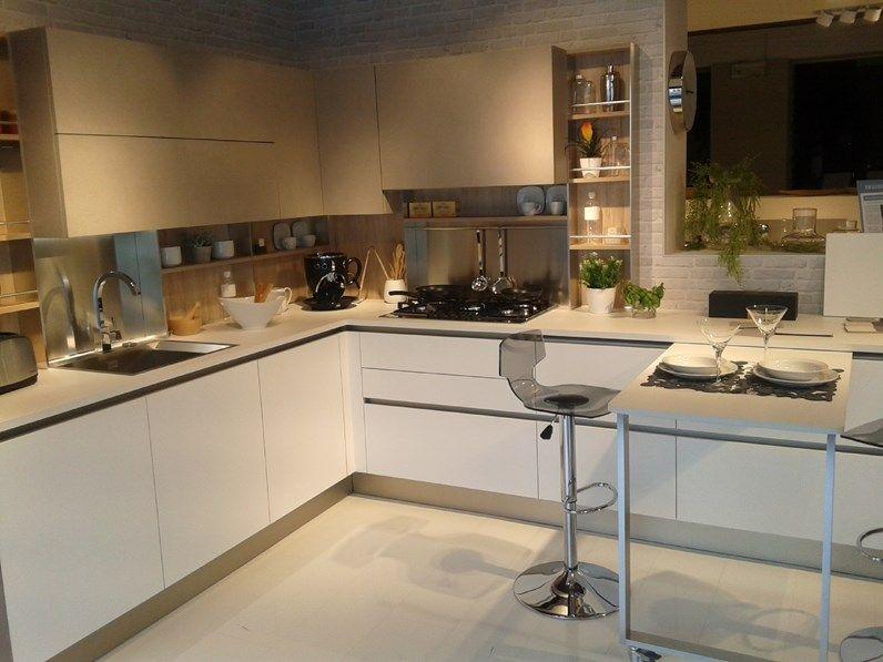 Cucina Ad Angolo In Laminato Materico Grigio Cucina Veneta Cucine
