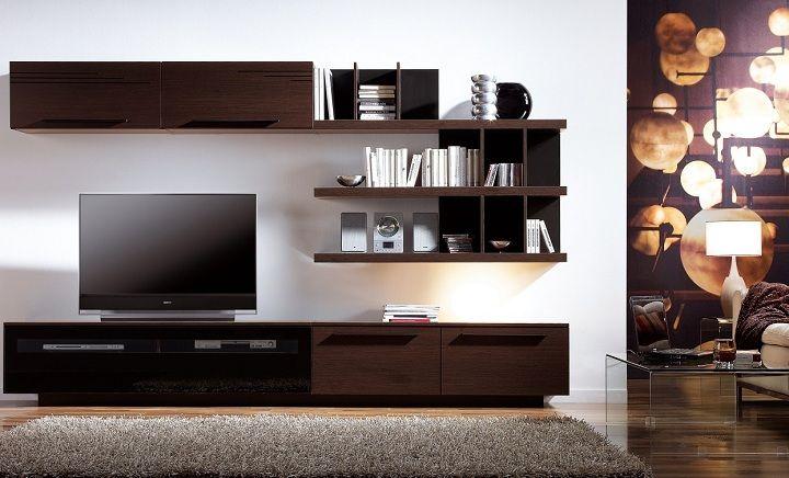 Wohnwand für moderne Wohnzimmer \u2013 24 modulare Schrankwände Pinterest