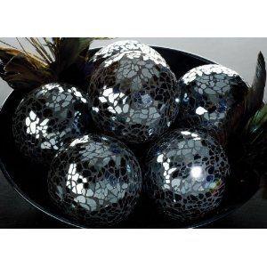 Decorative Glass Balls For Bowls Dark Blue Mosaic Glass Ball Bowl Home Decor Art  Decor