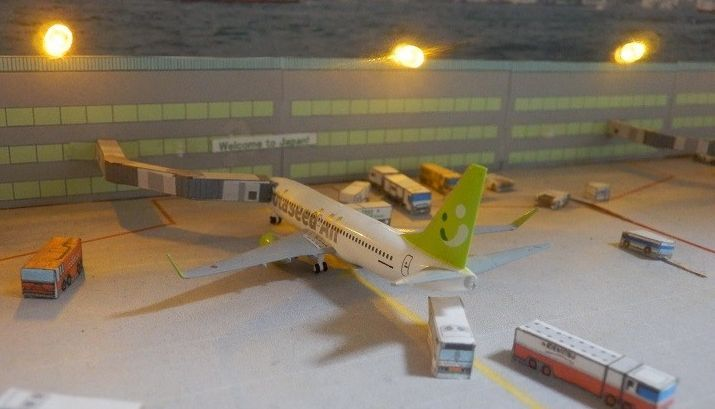 Airport Vehicle Paper Models For Diorama Free Templates Download Paper Models Diorama Plastic Model Kits