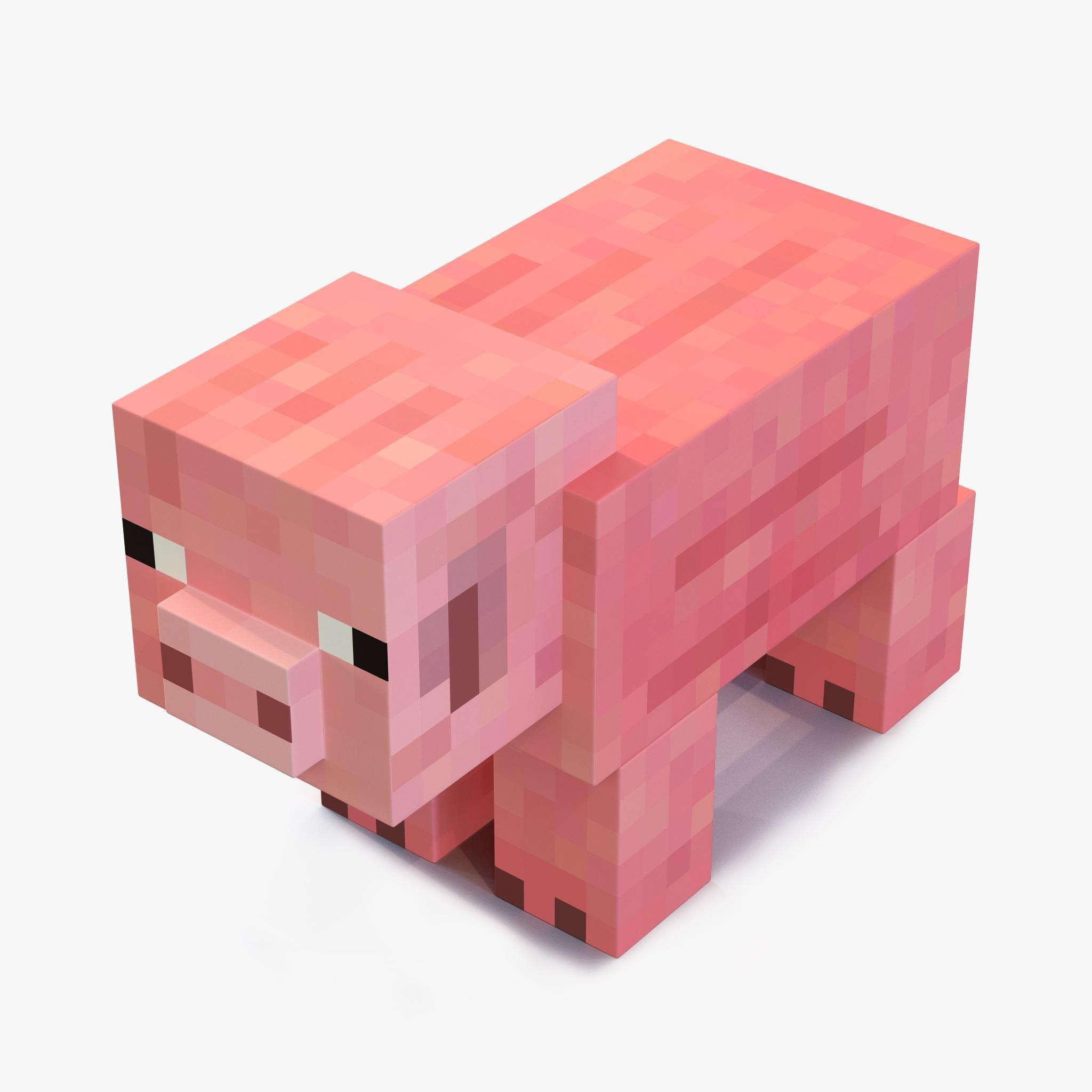 Minecraft Pig 3d Model Ad Minecraft Pig Model Minecraft Pig Minecraft Toys Minecraft