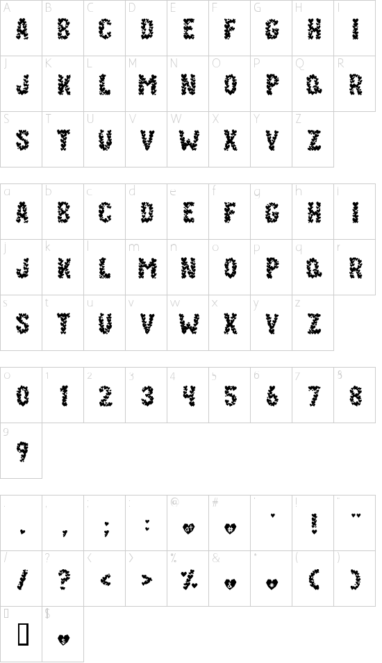 Paper Hearts Font - Download Free Fonts.
