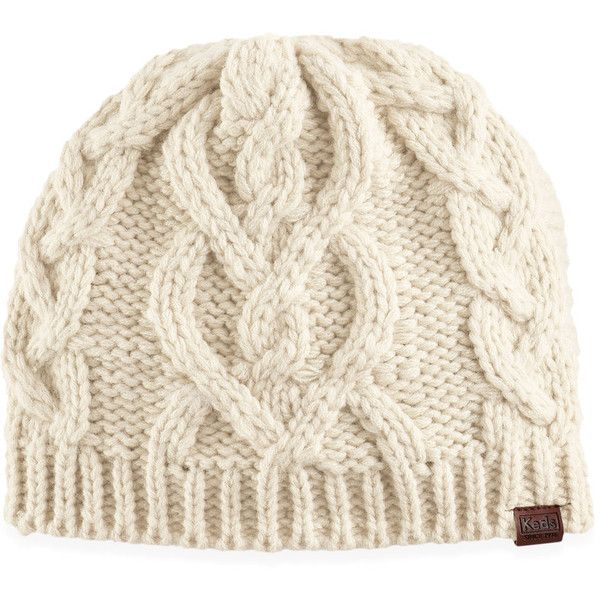 Women s Keds Chunky Cable Knit Beanie ( 25) ❤ liked on Polyvore featuring  accessories 8512de45173