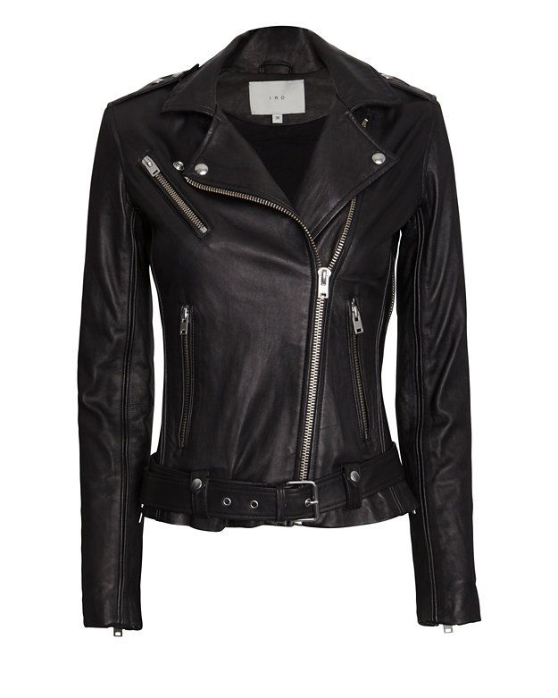 IRO EXCLUSIVE Belted Leather Jacket | Shop IntermixOnline.com