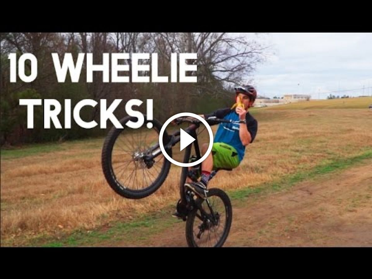 Watch 10 Different Mountain Bike Wheelies Con Immagini