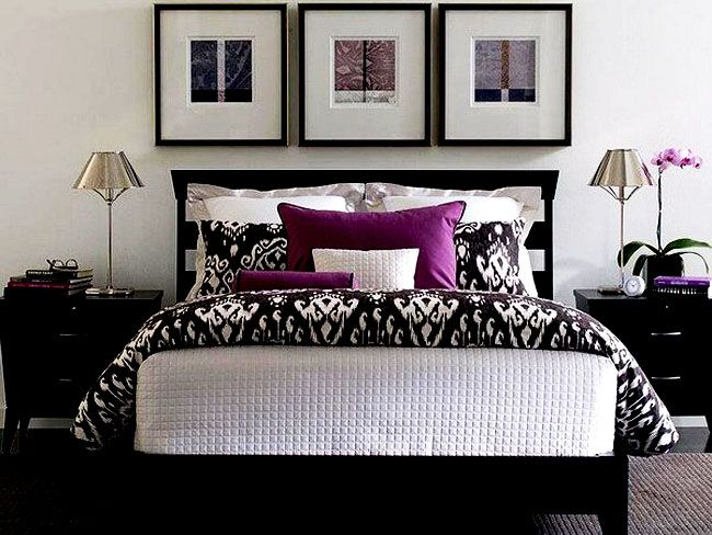 Find this Pin and more on Bedroom Design Ideas by richbeth21. This deep purple accent wall grey walls is close to what I have in