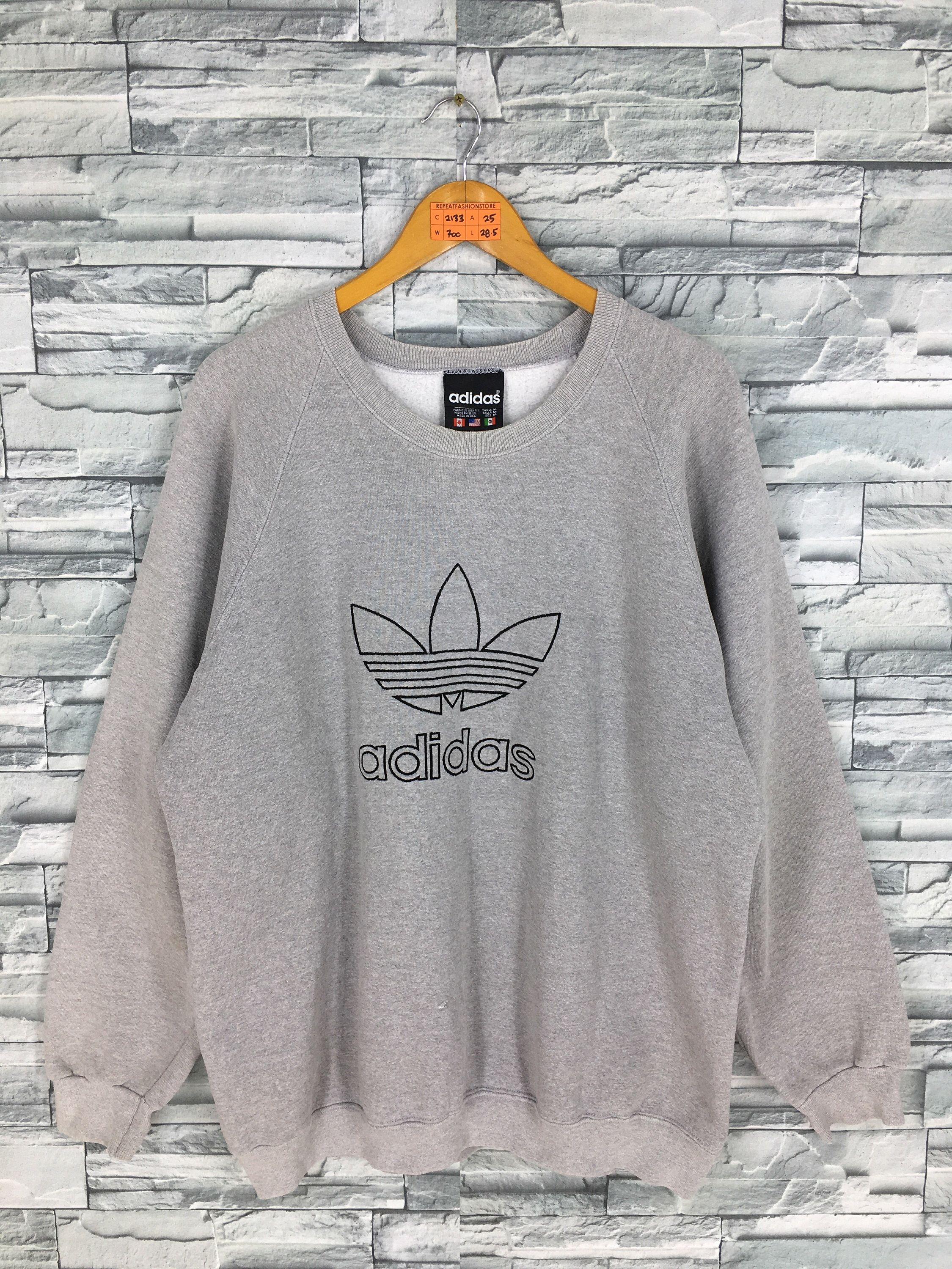 Predownload: Excited To Share This Item From My Etsy Shop Adidas Trefoil Pullover Sweater Medium Vintage 90s Adidas Run Dmc Sportswear Sweatshirt Gray Adidas Casual Big Lo [ 3000 x 2250 Pixel ]