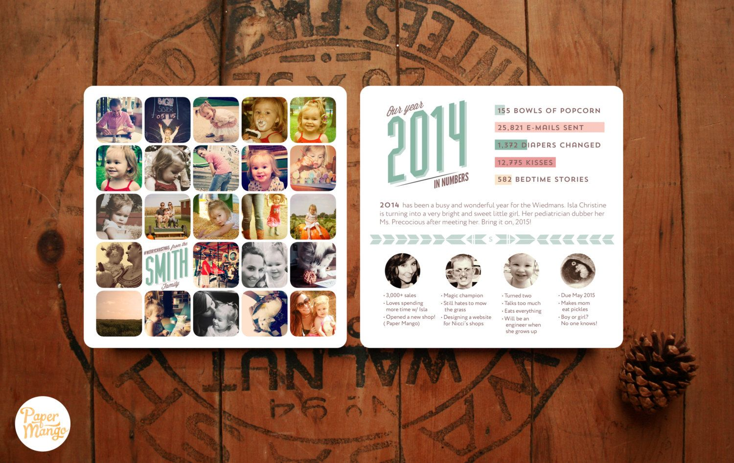 Custom Instagram Holiday Card Personalized Photo by ThePaperMango ...