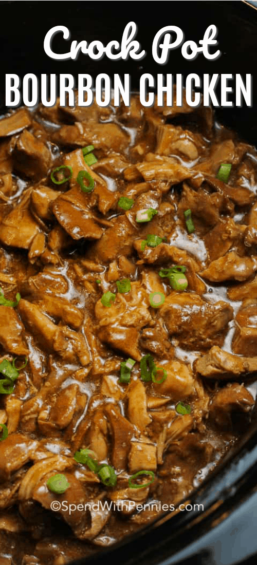 Crockpot Bourbon Chicken - Spend With Pennies #crockpotrecipes