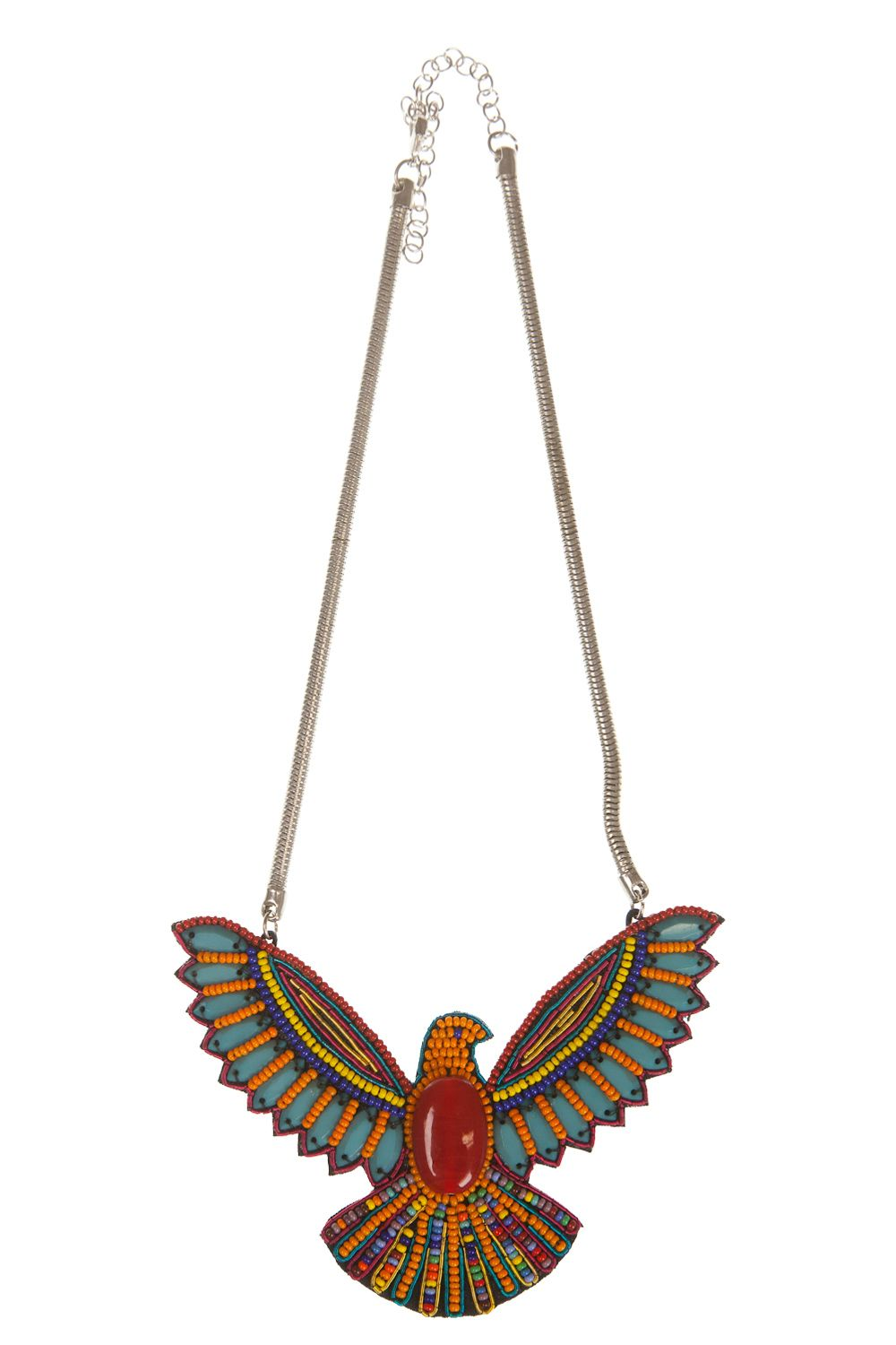 great necklace would look good with worn denim shirt