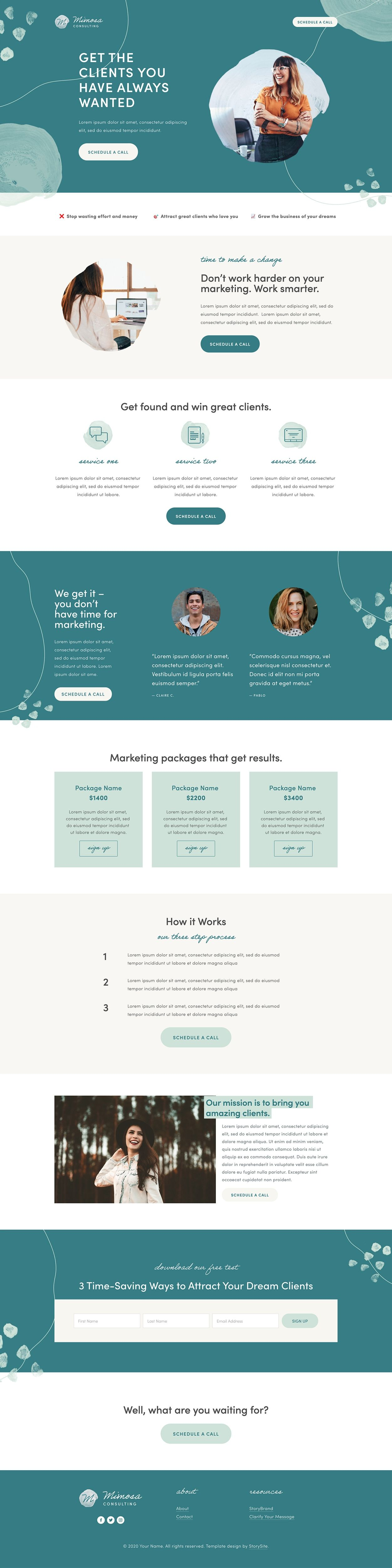 Storybrand Website Templates For Consultants Built On Squarespace En 2021 Web Design Design Responsive Webdesign Inspiration