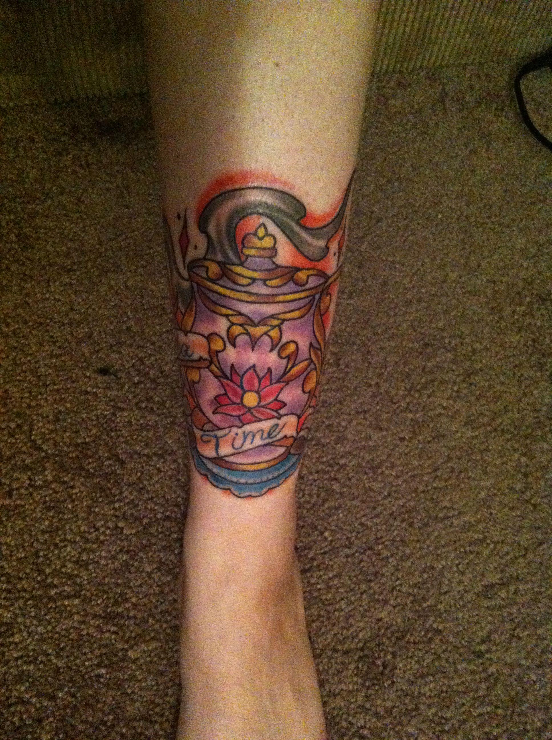 Tea pot tattoo