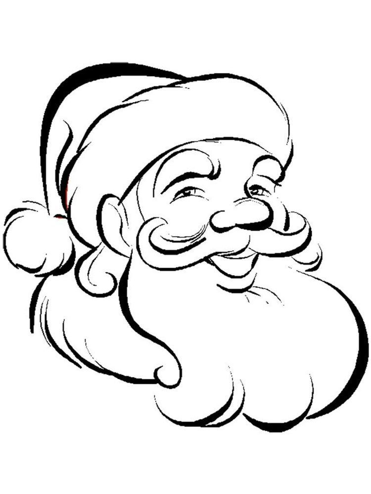 Happy Face Coloring Page When Two People Meet Which Part Of The Body Will Be First Seen Santa Coloring Pages Free Coloring Pictures Christmas Coloring Pages