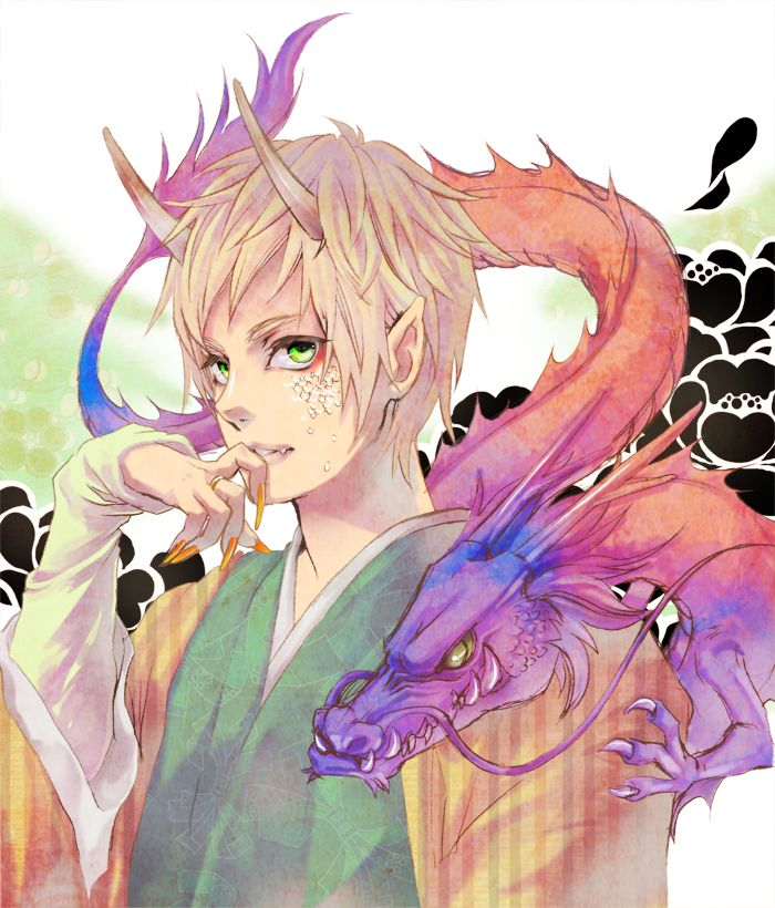 "Arthur half""human"", halfdragon Art by ゆげ Cool anime"
