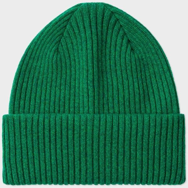 8e70bb2c6ff295 Paul Smith Men's Green Cashmere Beanie Hat (16195 RSD) ❤ liked on Polyvore  featuring men's fashion, men's accessories, men's hats, green, mens hats,  mens ...