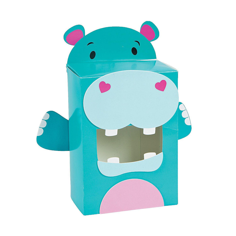 Hippo Valentine Card Holder Box Craft Kit  Card holder boxes