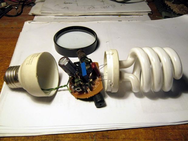 Using Energy Saver Light Circuit For Leds An Improved Energy Saver Light Hacked From Cfl
