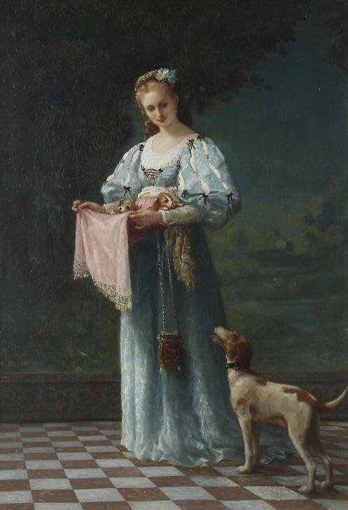 Gustave Doyen (1837 - ?) - The new litter