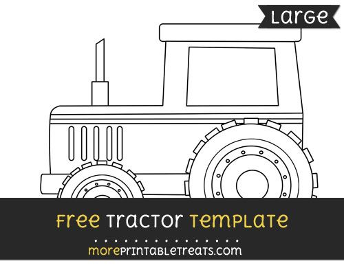free tractor template large shapes and templates printables