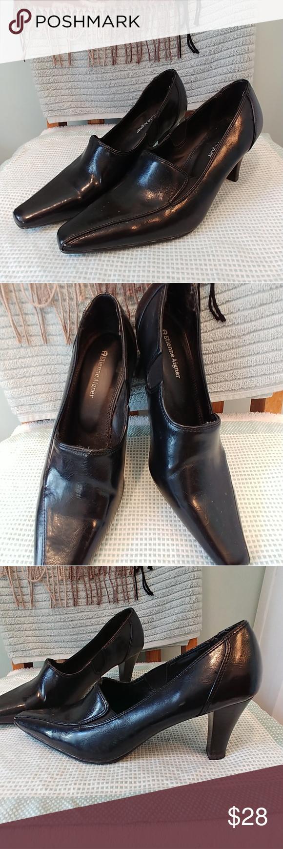 3f38cc864c EUC Etienne Aigner sz 6.5 black leather heels EUC Etienne Aigner sz 6.5 black  leather, 2.5 in heels, worn twice, perfect condition Etienne Aigner Shoes  ...