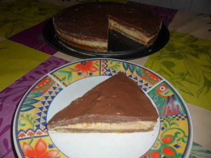 Cheesecake de naranja y chocolate