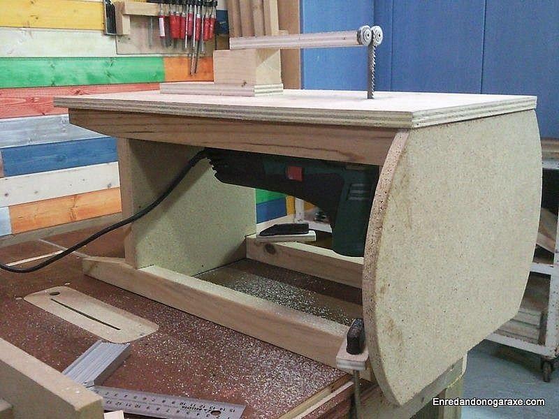 C mo hacer una sierra de calar de mesa sencilla y til - Sierra para taladro ...