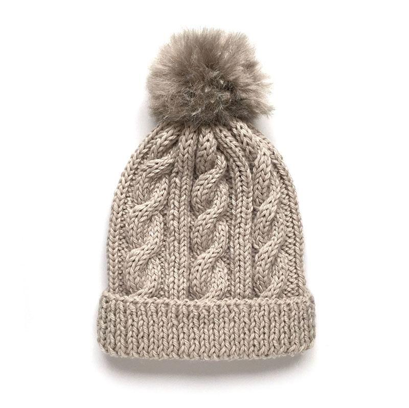 Gorro de lana de ochos con pompón. ¡Nos encanta tejer! | lana ...