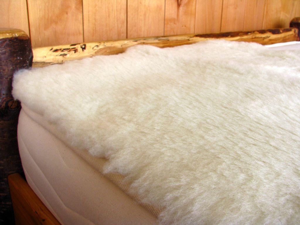 Holy Lamb Organics Happy Lamb Organic Fleece Mattress Topper Wool Mattress Organic Mattresses Wool Bed