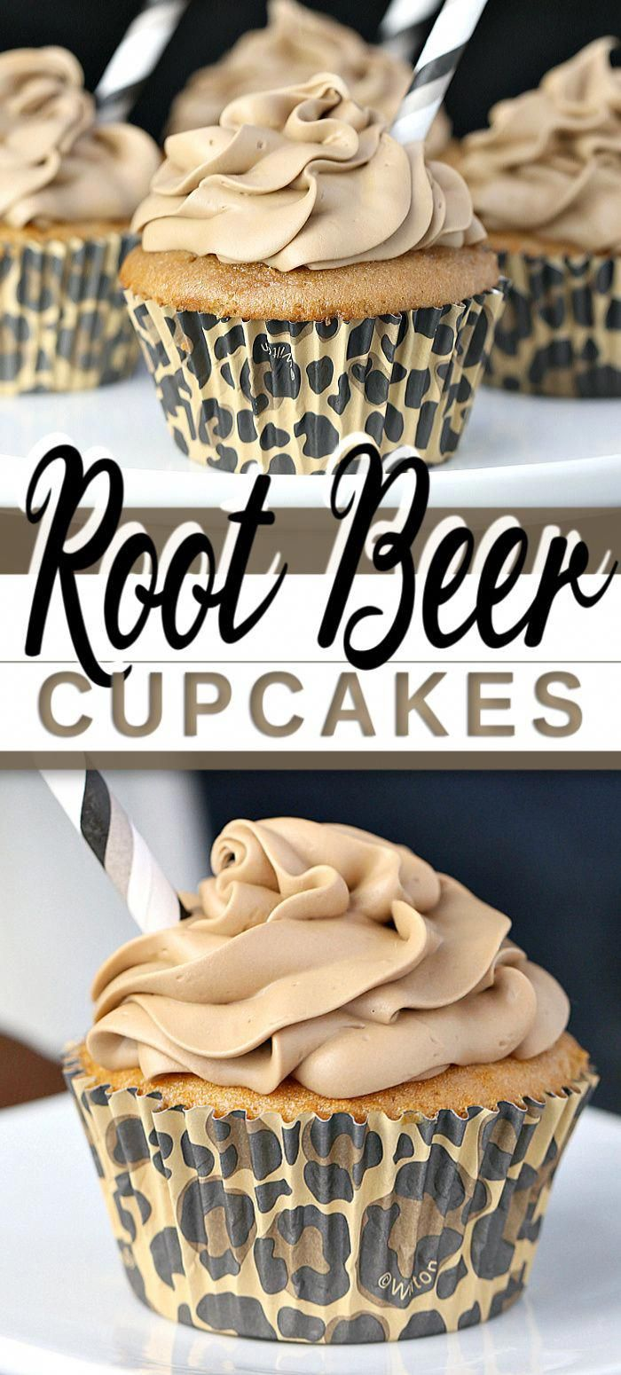 These ROOT BEER CUPCAKES with cream cheese icing are a hit with adults and kids alike, in taste and looks. First your nose picks up the classic root beer scent, then the flavour mildly hits tasting like a root beer float, so classic and delicious!