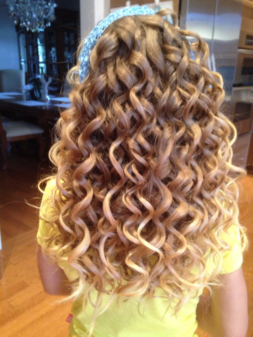 Spiral Curls Done With Small Barrel Curling Wand Hair