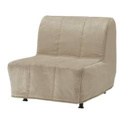 convertible chair bed ikea cushions with ties outdoor a that unfolds into lycksele lovas henan beige