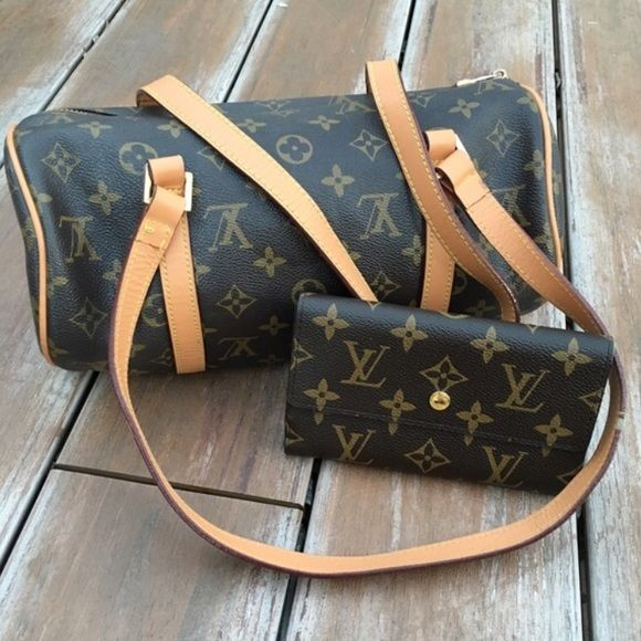Louis Vuitton Handbag & Wallet Bundle Inspired! Both in excellent condition! Ships Immediately! PINK Victoria's Secret Bags