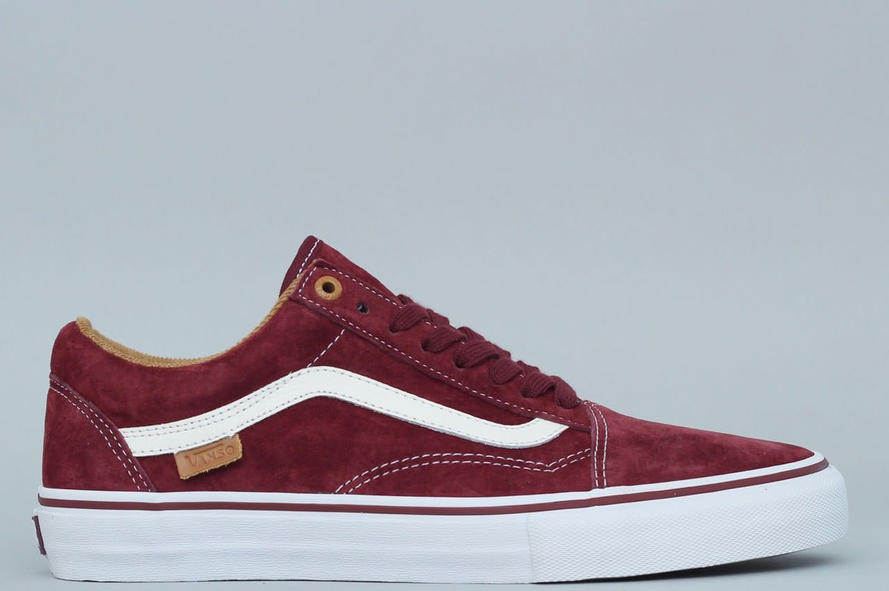 Vans Old Skool '92 Pro x Kyle Walker Skate Shoes Burgundy