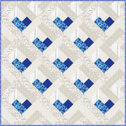 Baby Heart Log Cabin Quilt - Free Quilt Pattern ❤ | Pinterest ...