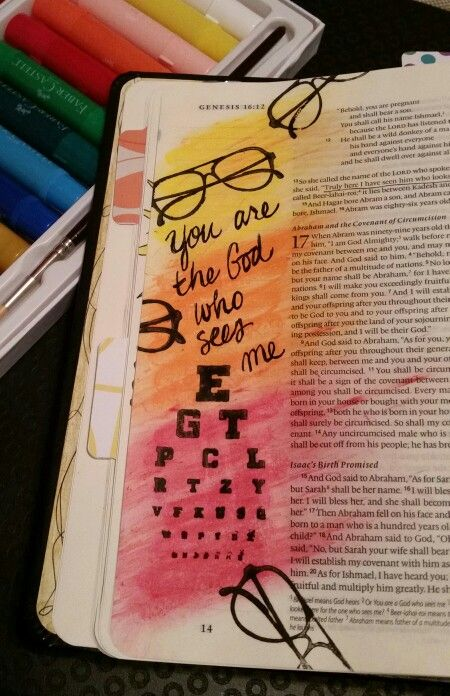 Genesis 16 : 13 - You are a God of seeing - Truly here I have seen him who looks after me