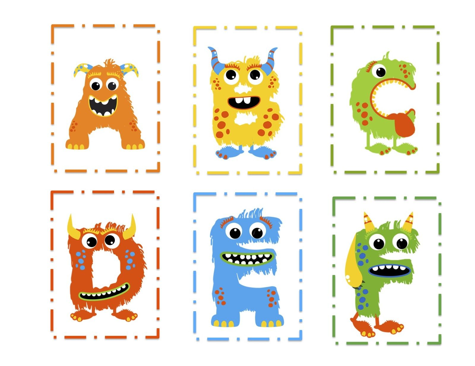 Monster Alphabet Preschool Printables  At Home Preschool Stuff