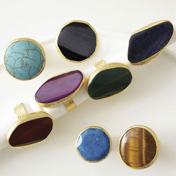 Lockwood - Chunky Gemstone Cocktail Rings