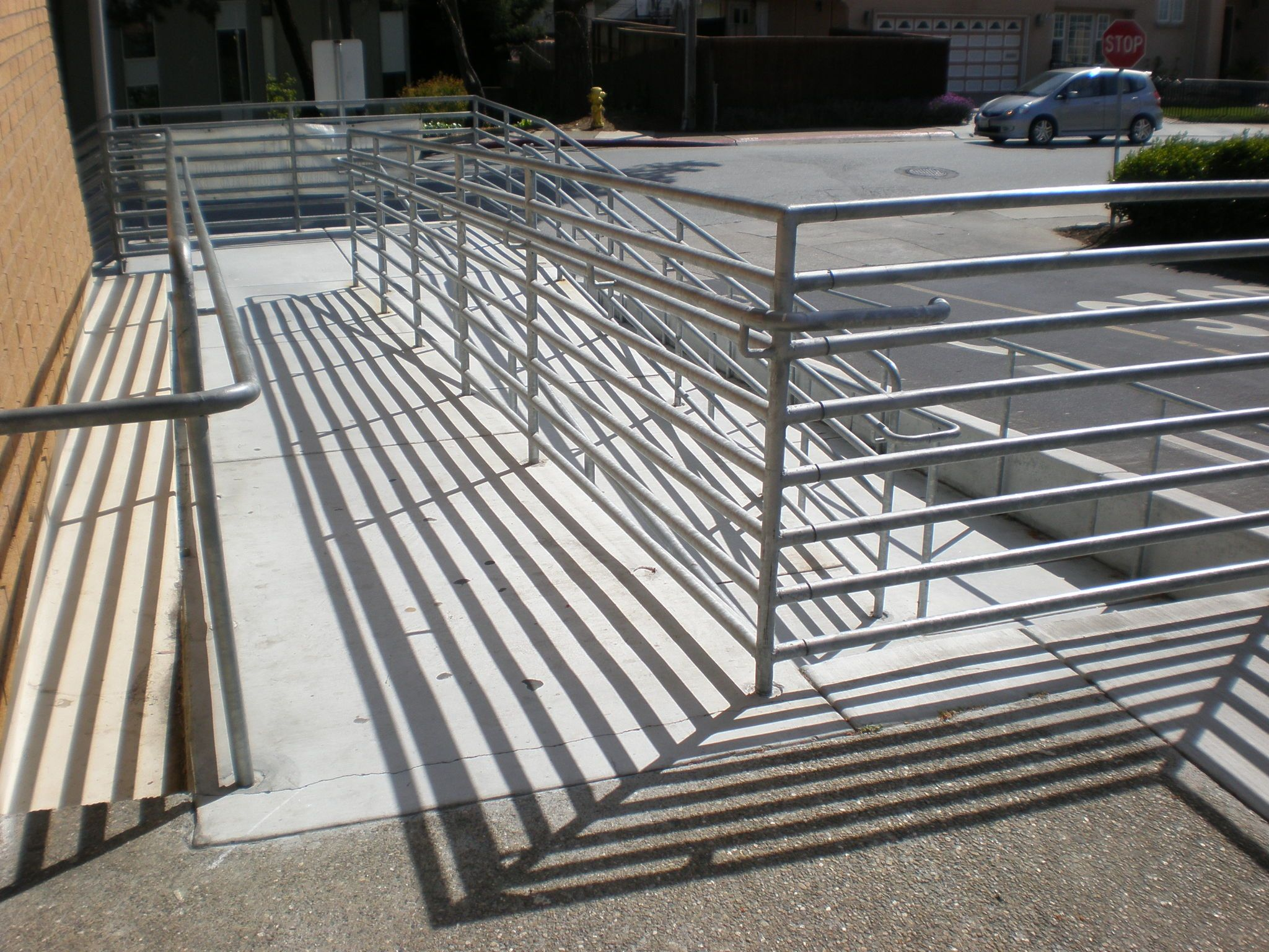 Wheelchair ramps for stairs - File Ssf Main Library Wheelchair Ramp 2 Jpg Wikimedia Commons