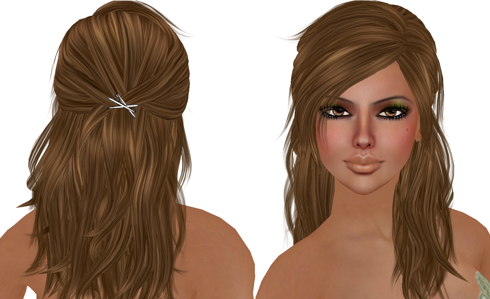 Cute Pull Back Long Layered Hair Long Layered Hair With Side Bangs Hair