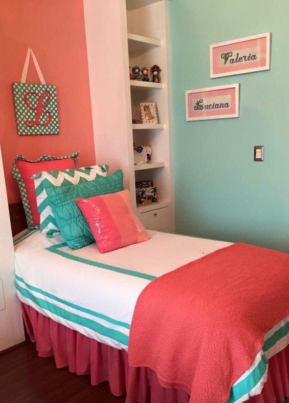 Big Sister Decor Bedroom Mint Coral Girl Room Decoraci N