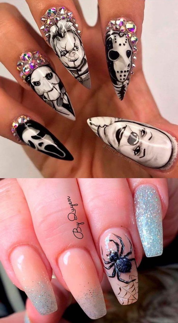 horror-movies-characters-inspired-nails-two-photos-of ...
