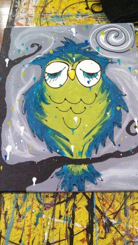 Sips N Splatters #SipsNSplatters #Owl #Paint #SO #IL #Fun