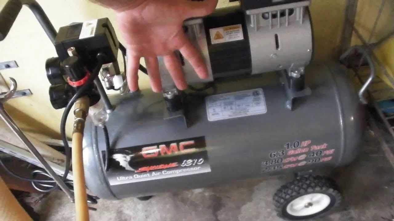 Gmc Ultra Quiet Oil Free Syclone 6310 Air Compressor Review