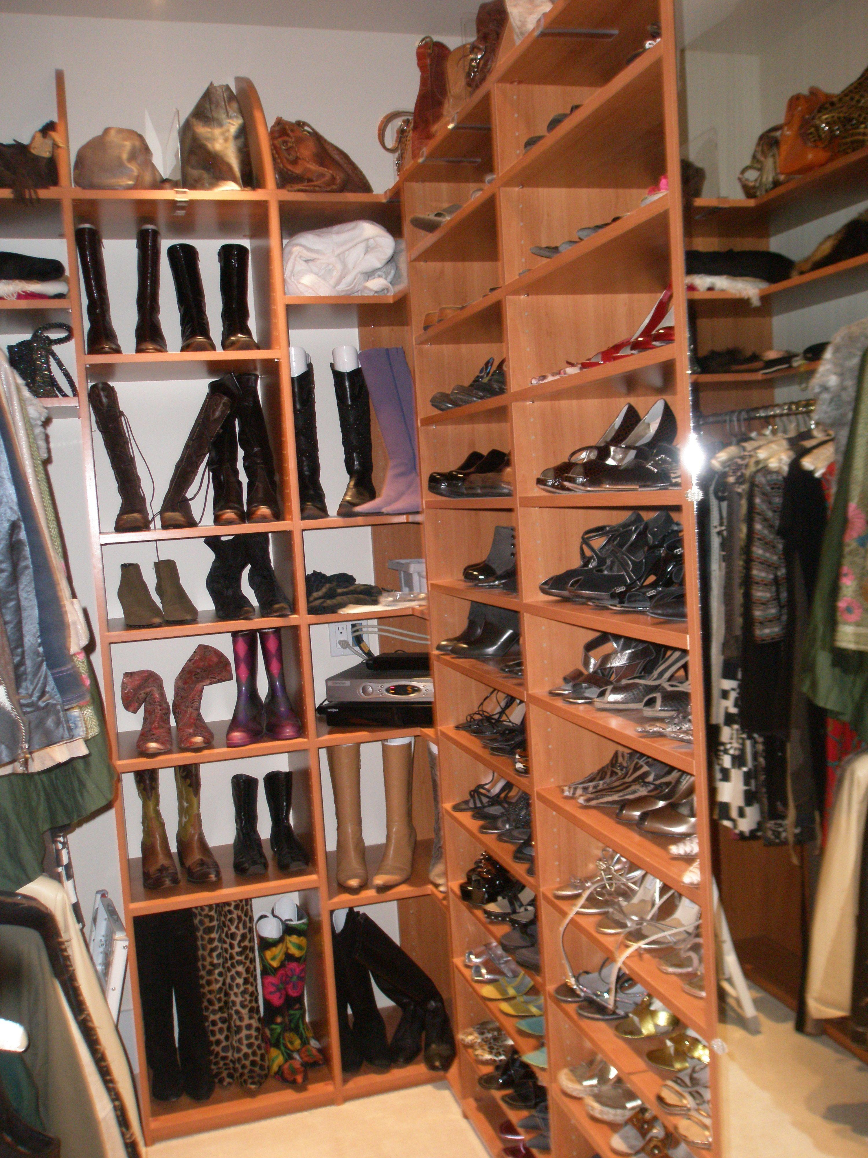 Etonnant Shoe Section In San Rafael Closet. Shoe Storage, Shoe Room.