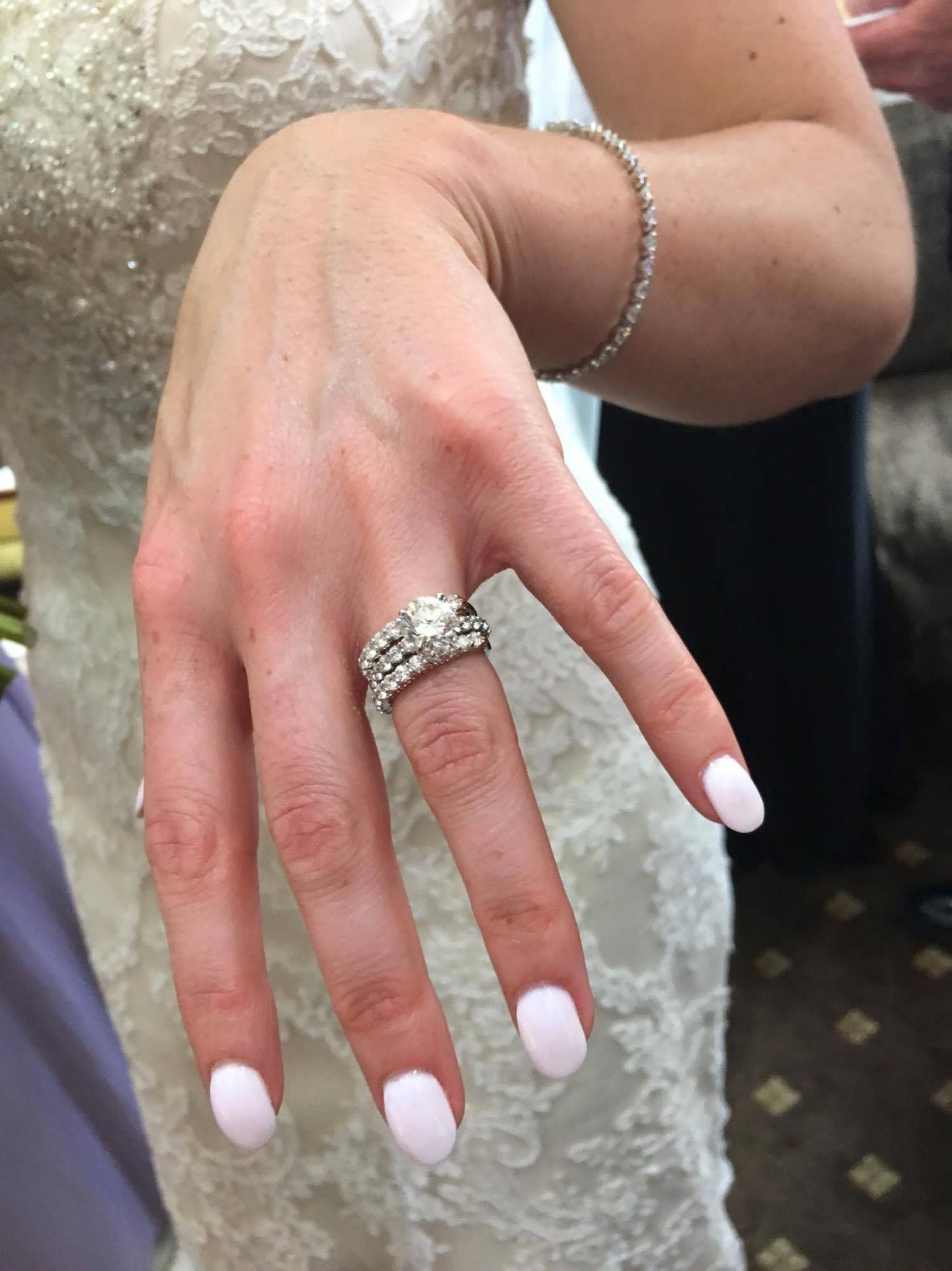 Stacked wedding rings   Wedding   Pinterest   Wedding and Engagement