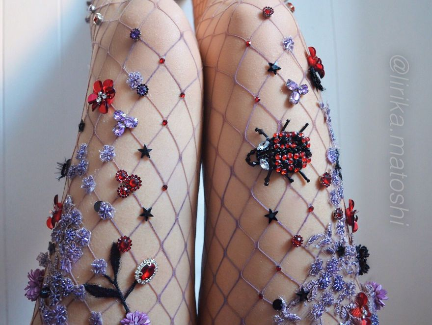 acb5bf4ab1215 Embellished Fishnet Tights Are Here And It Will Make You Feel Like A  Mermaid Caught In A Net