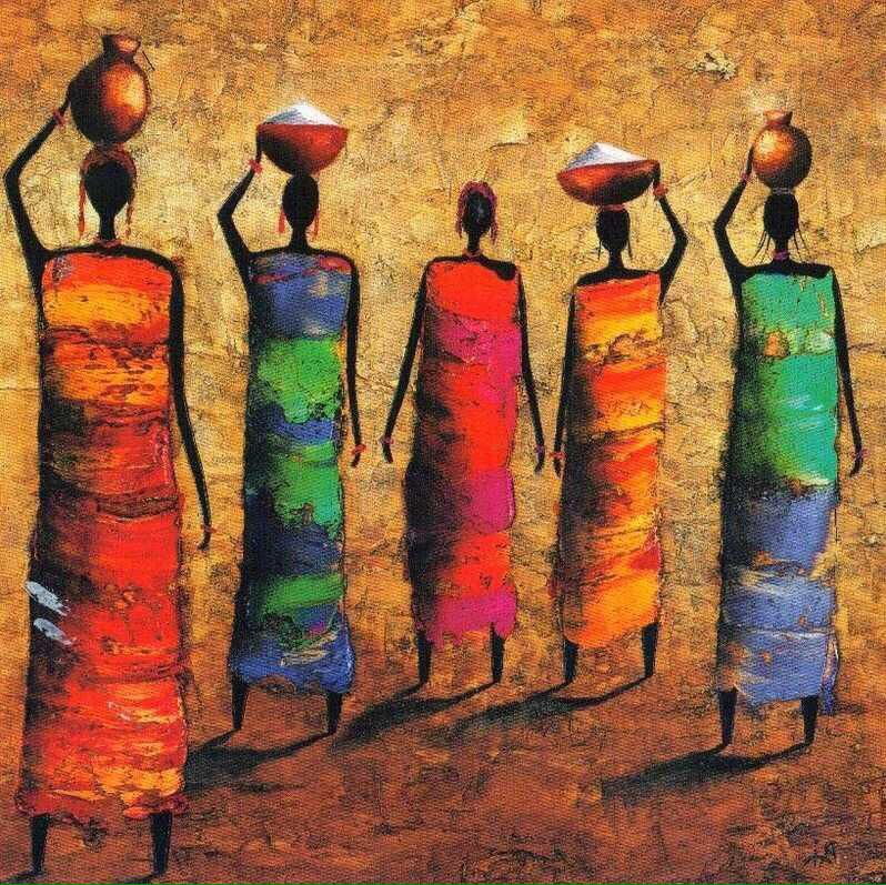 Brilliant African Inspired Painting By Michel Rauscher 1957