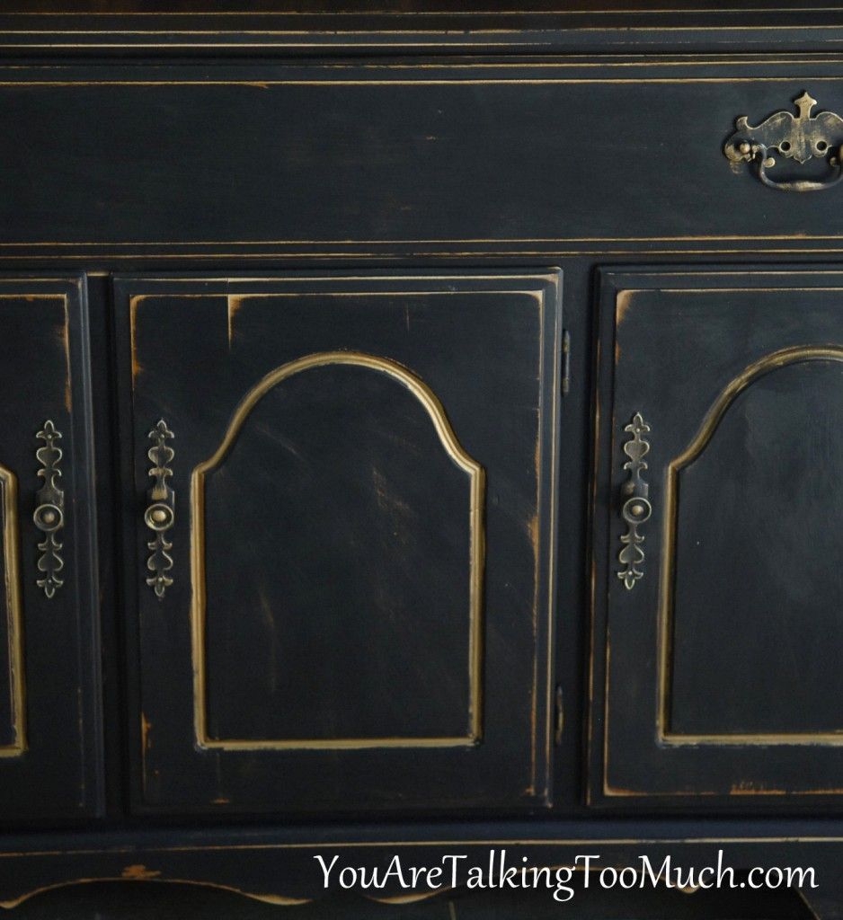 Black Buffet You Are Talking Too Much Black Buffet Black Chalk Paint Furniture Annie Sloan Graphite